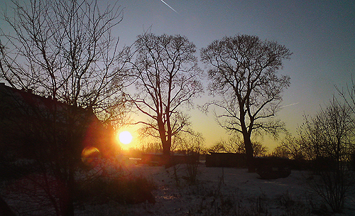 Schnee-Idyll